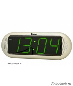 Настольные кварцевые часы с будильником ГРАНАТ/Granat С-1816-Зел.