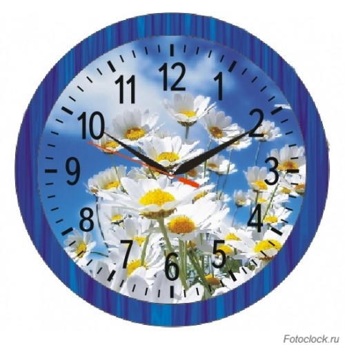 """Часы настенные Восток """"Цветы"""" ЧНЭМ-2-2"""