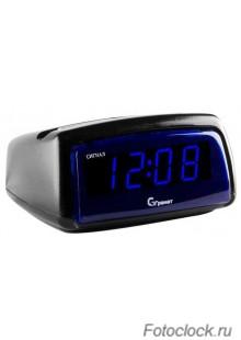 Настольные кварцевые часы с будильником ГРАНАТ/Granat С-1222-Син.