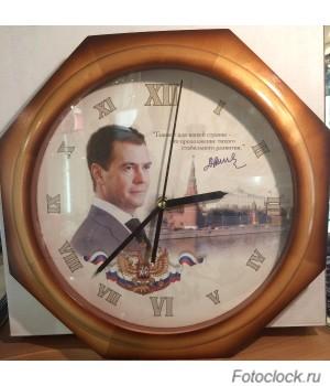 Часы настенные Михаил Москвин «ЗВЕЗДА»4668A18 Медведев