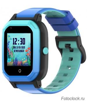 GPS часы SMARUS kids KW2 синие (4G, GPS, виброзвонок, видеозвонок)