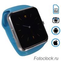 Q7 умные часы телефон Голубые.