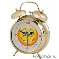"""Кварцевый будильник Восток К 850-25 """"Смайл"""""""