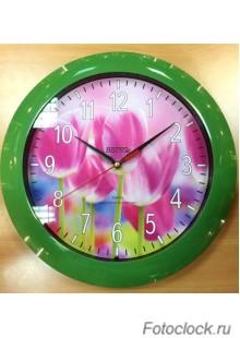 """Часы настенные Восток """"Цветы"""" ЧНЭМ-2-007"""